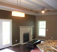 This family wanted their living room and ceiling freshly painted.