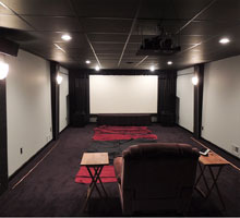 Home Theater with Special Audio Surround system and lighting controls, receives a painting makeover!